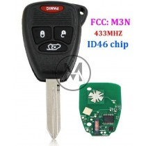 CHRYSLER - DODGE - JEEP -  con remote 433 mhz. M3N