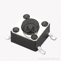 Micro pulsante 4 pin  mm: 6 x 6 (h) 4 mm.
