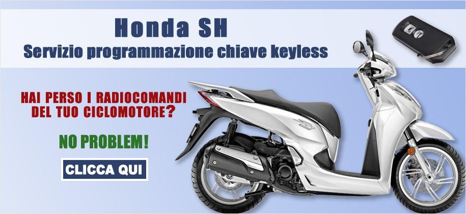 Duplicazione chiavi scooter Honda SH