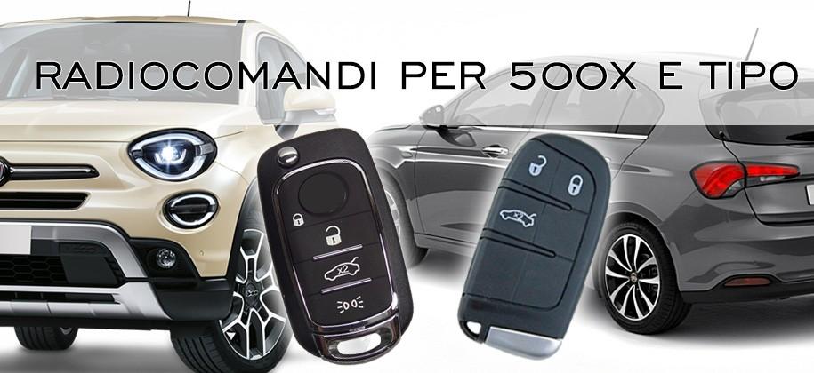 Radiocomandi per Fiat 500X e Tipo